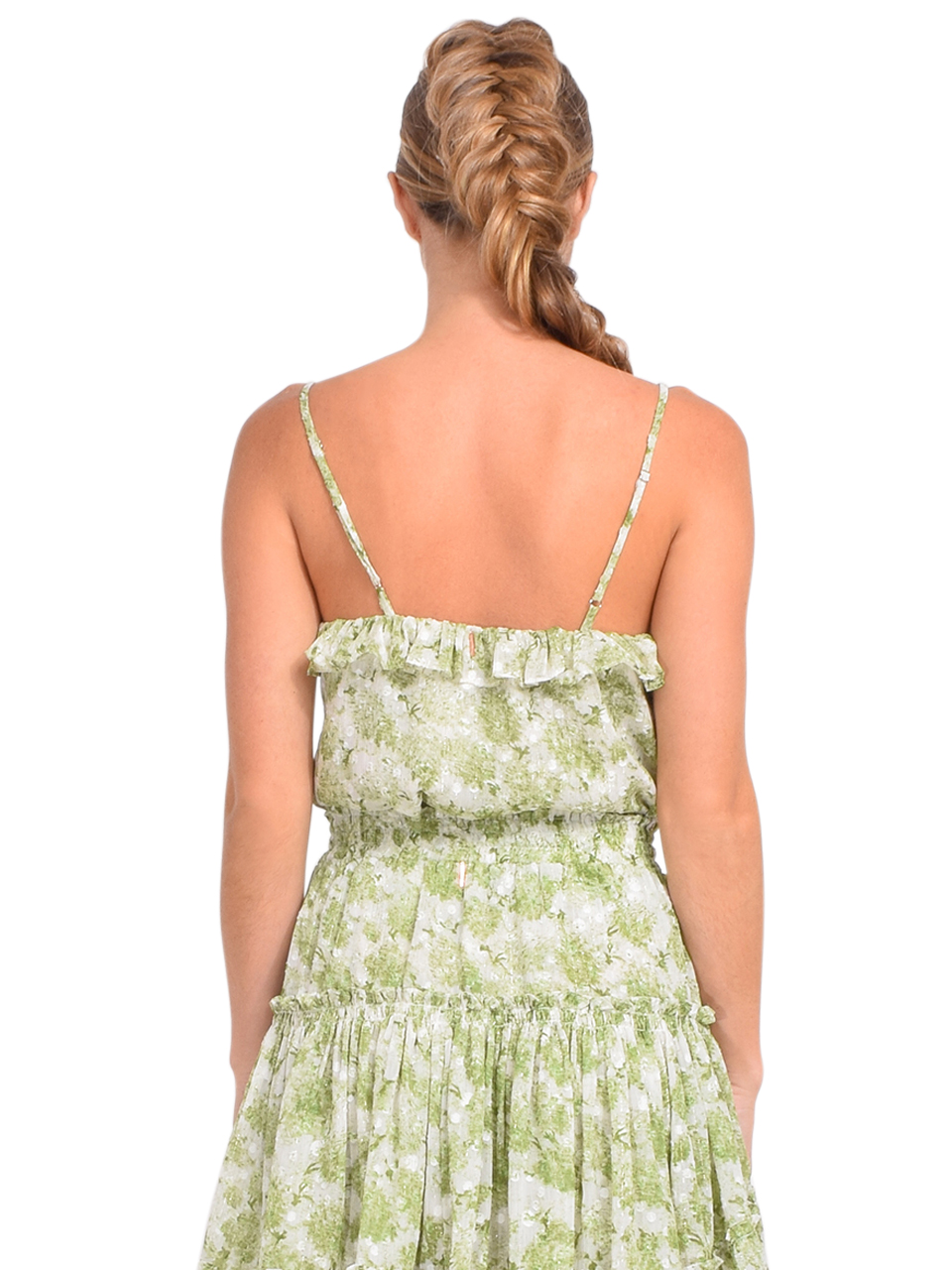 MISA Bambi Button Front Cami in Verdana Abstract Back View