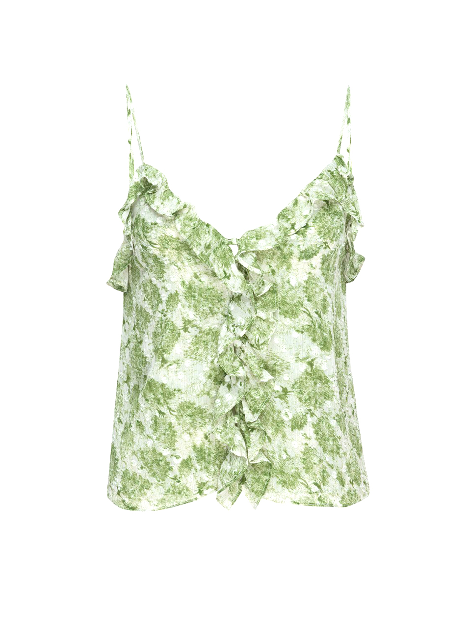 MISA Bambi Button Front Cami in Verdana Abstract Product Shot