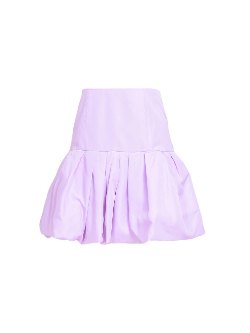 3.1 Phillip Lim Bubble Hem Taffeta Mini Skirt in Lavender Product Shot