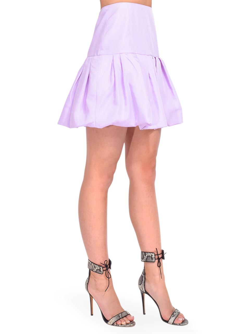 3.1 Phillip Lim Bubble Hem Taffeta Mini Skirt in Lavender Side View
