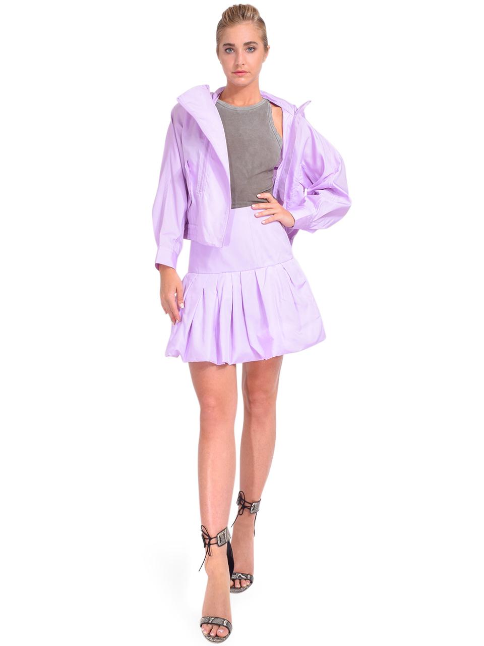 3.1 Phillip Lim Bubble Hem Taffeta Mini Skirt in Lavender Full Outfit