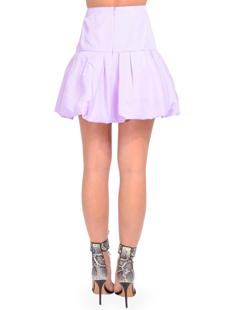 3.1 Phillip Lim Bubble Hem Taffeta Mini Skirt in Lavender Back View