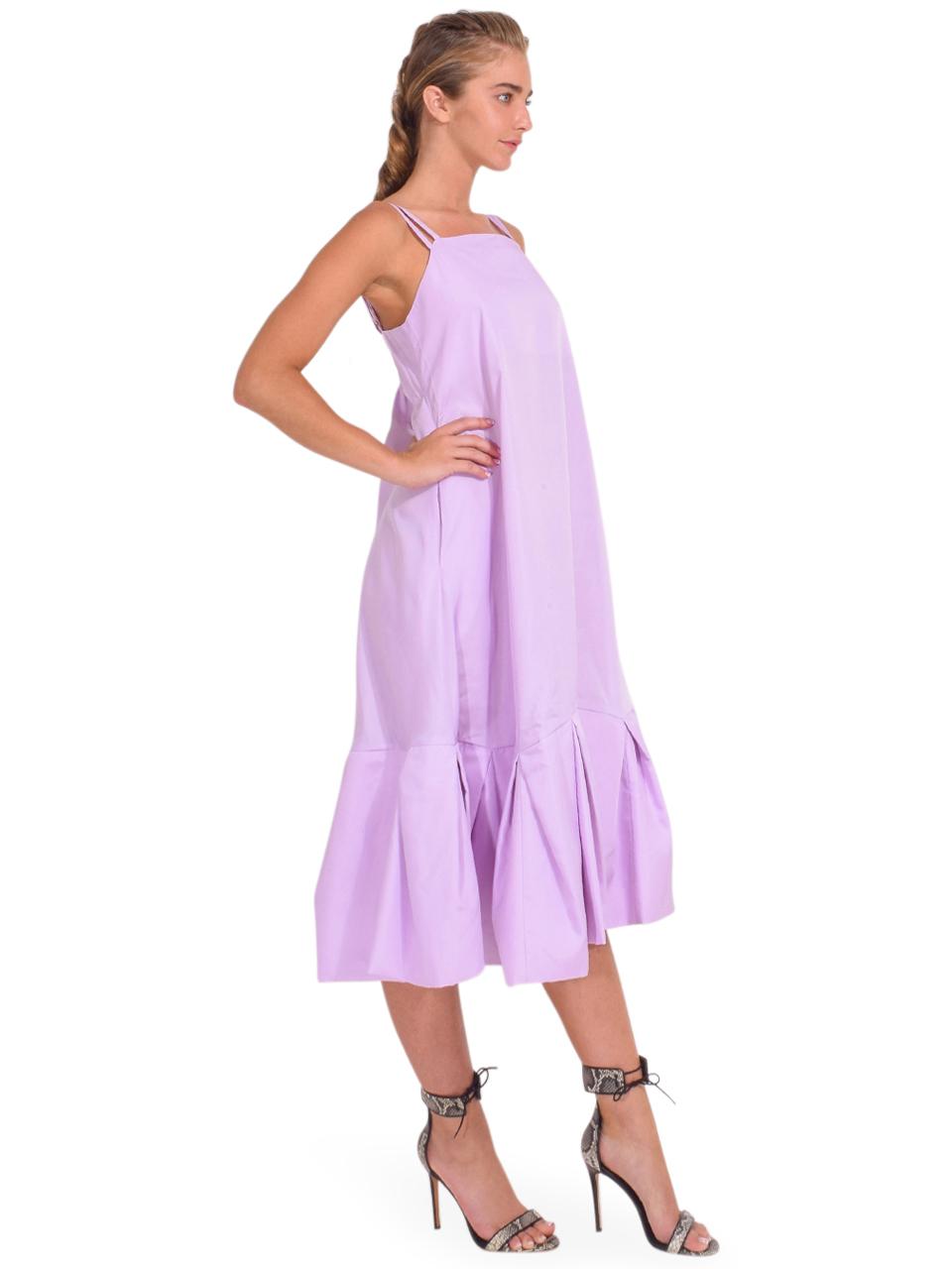 3.1 Phillip Lim Multi Strap A-Line Taffeta Dress in Lavender Side View