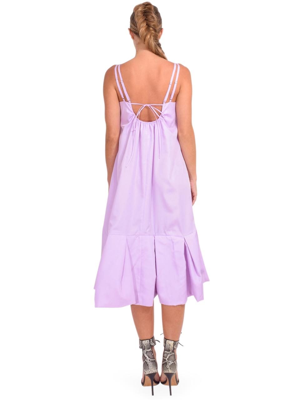 3.1 Phillip Lim Multi Strap A-Line Taffeta Dress in Lavender Back View