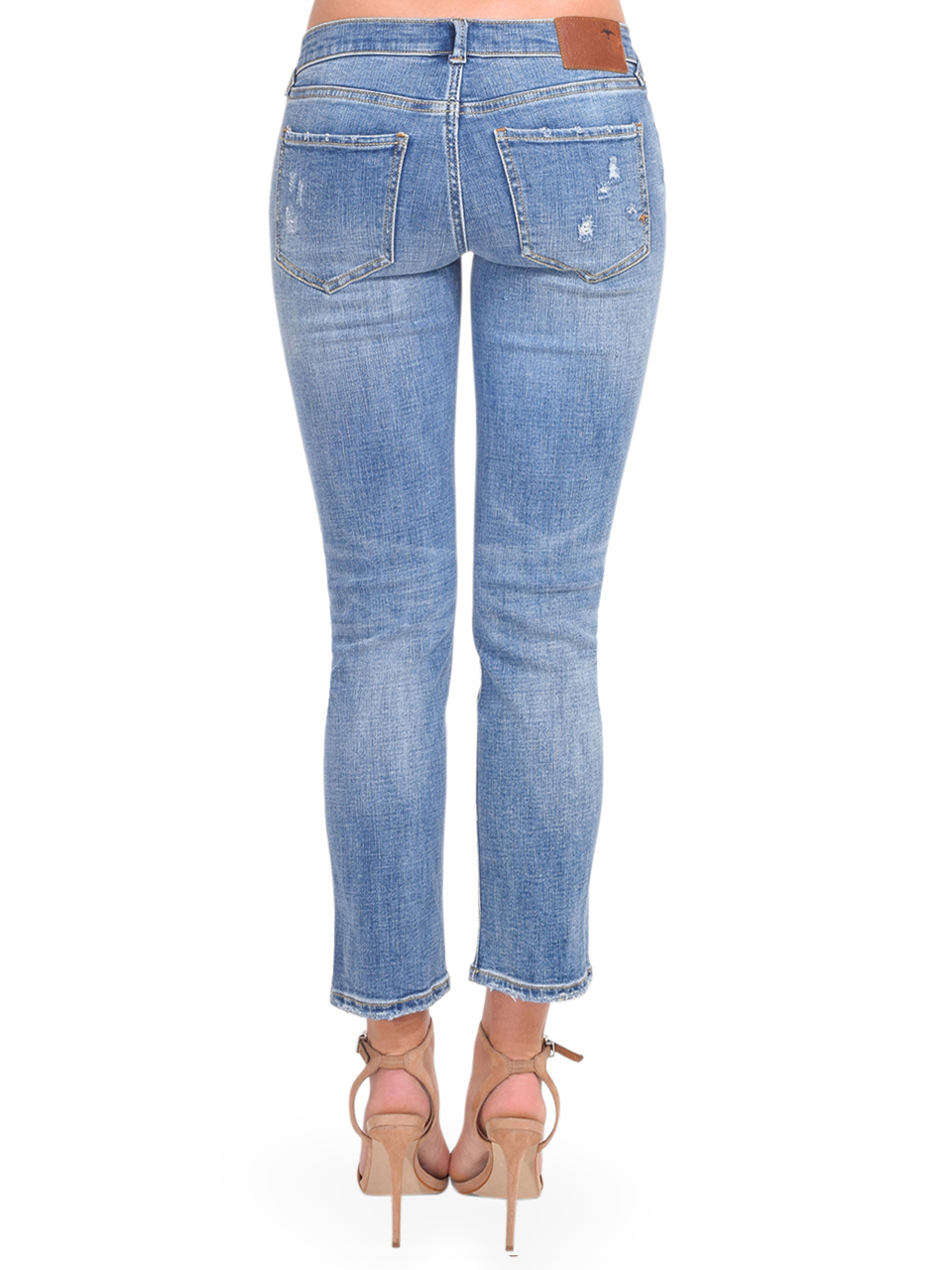 SERRA By Joie Rucker Smashing Low Rise Jeans in Rockpoint Blue Back View