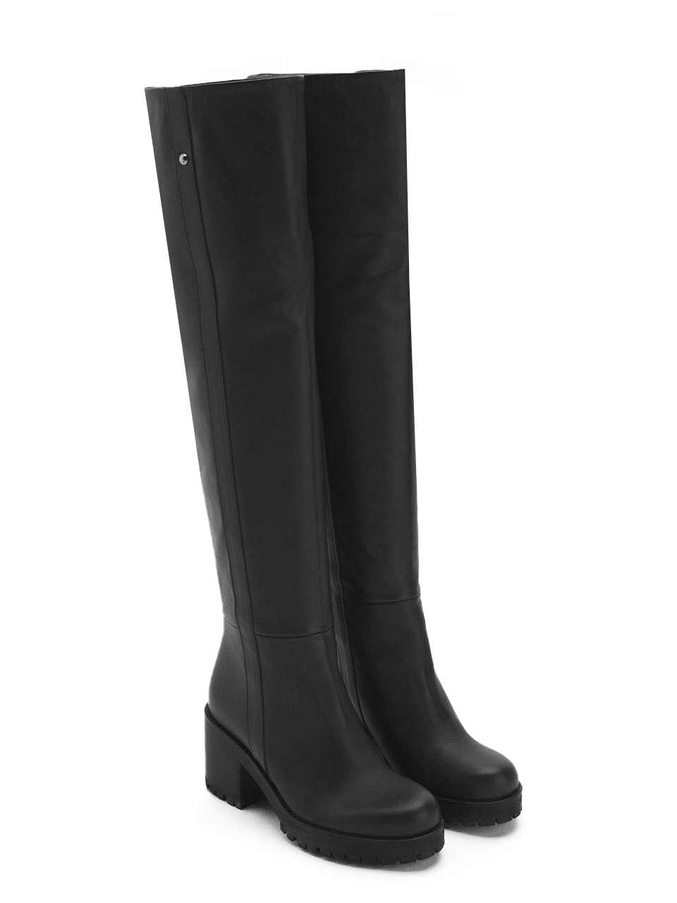Ottod'Ame High Leg Boots in Black Side
