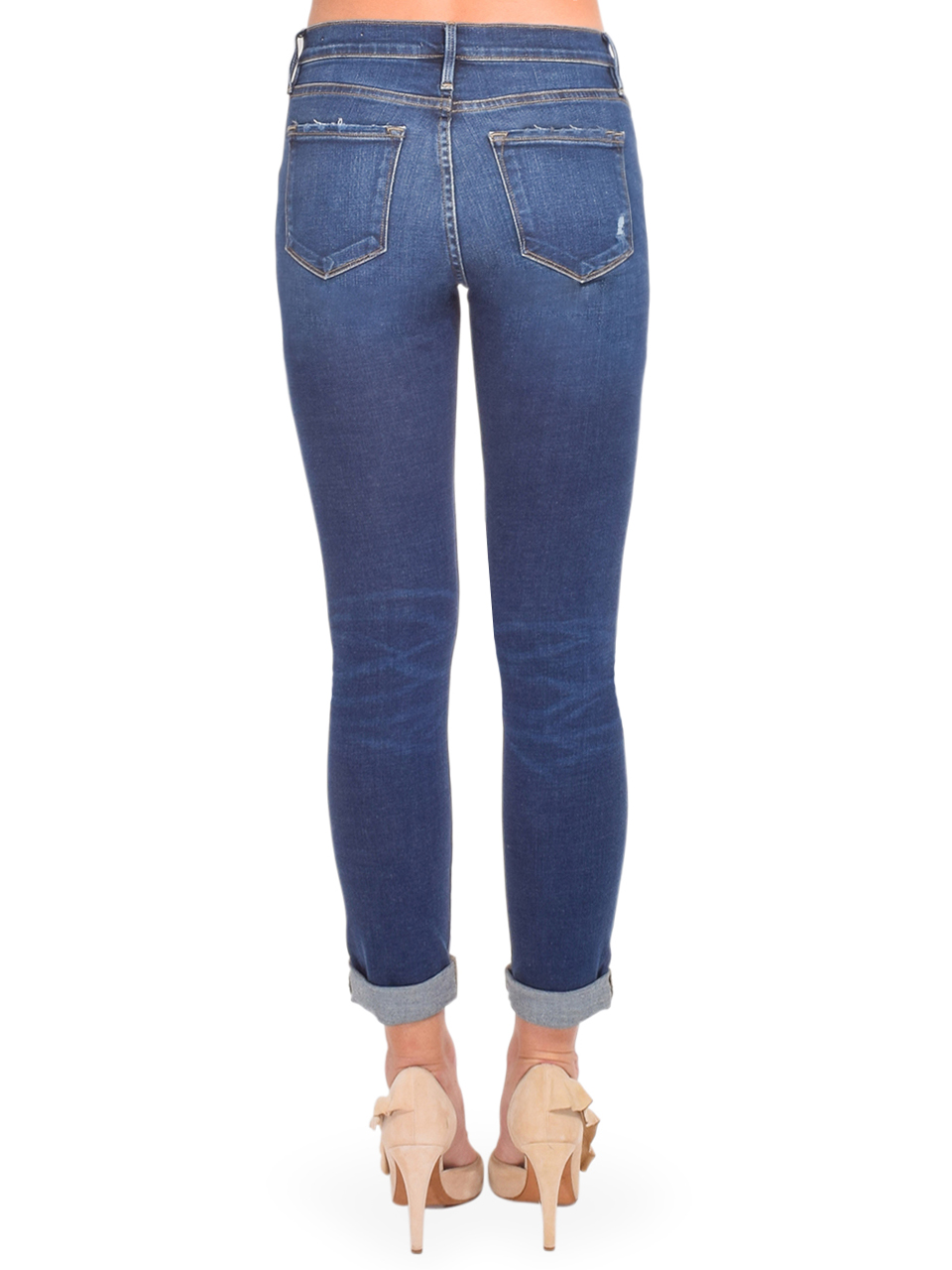 FRAME Le Garcon Straight Leg Jean in Caribou Back View