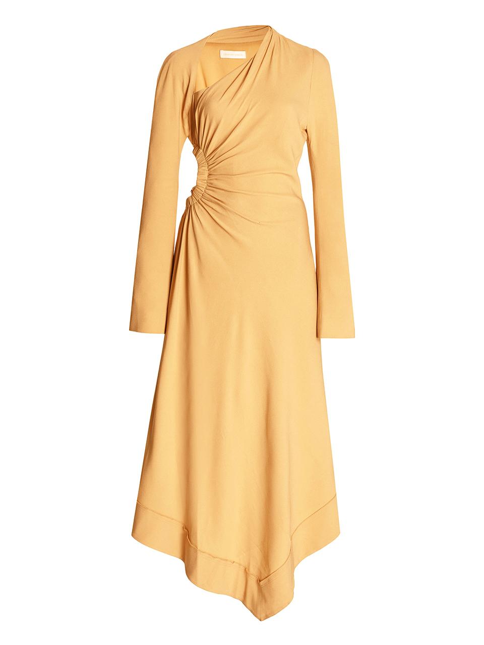 Jonathan Simkhai Christie Draped Cutout Dress in Honey Product Shot