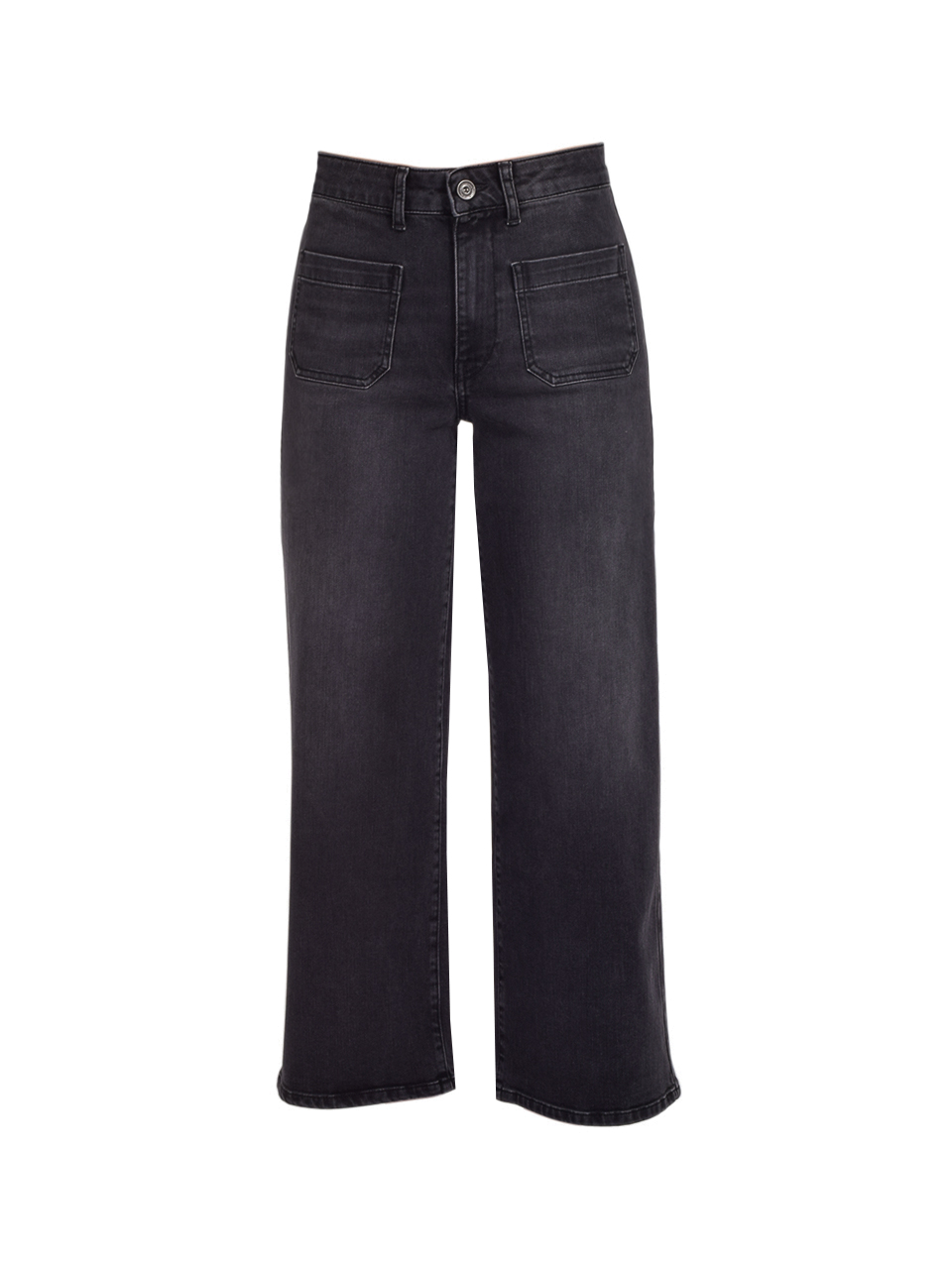 Ottod'Ame Cropped French Jeans in Black Product Shot