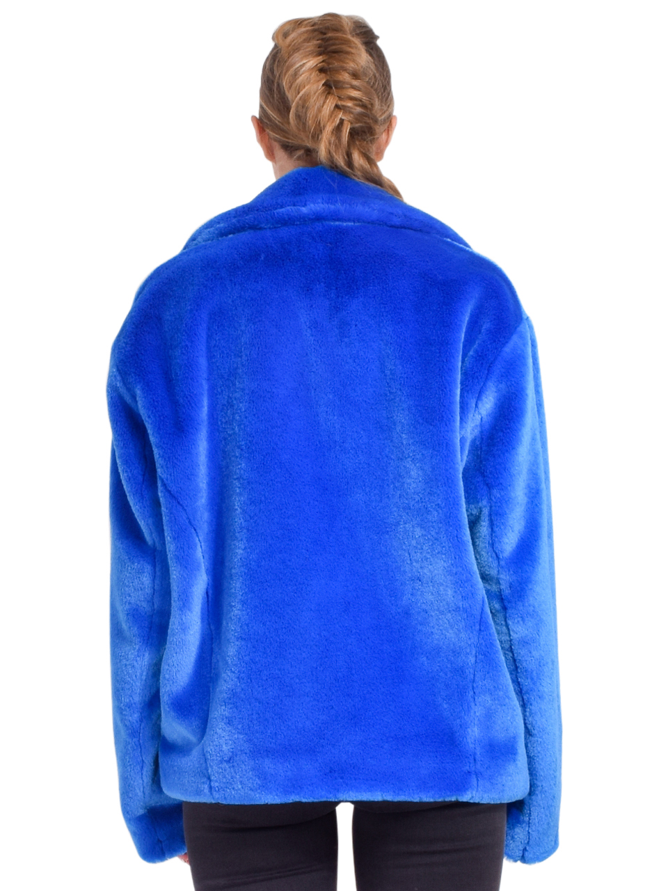 RtA Reese Zip Up Jacket in Magnetic Blue Back View
