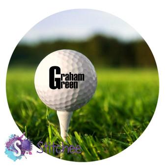 Personalised Golfballs (set of 3)