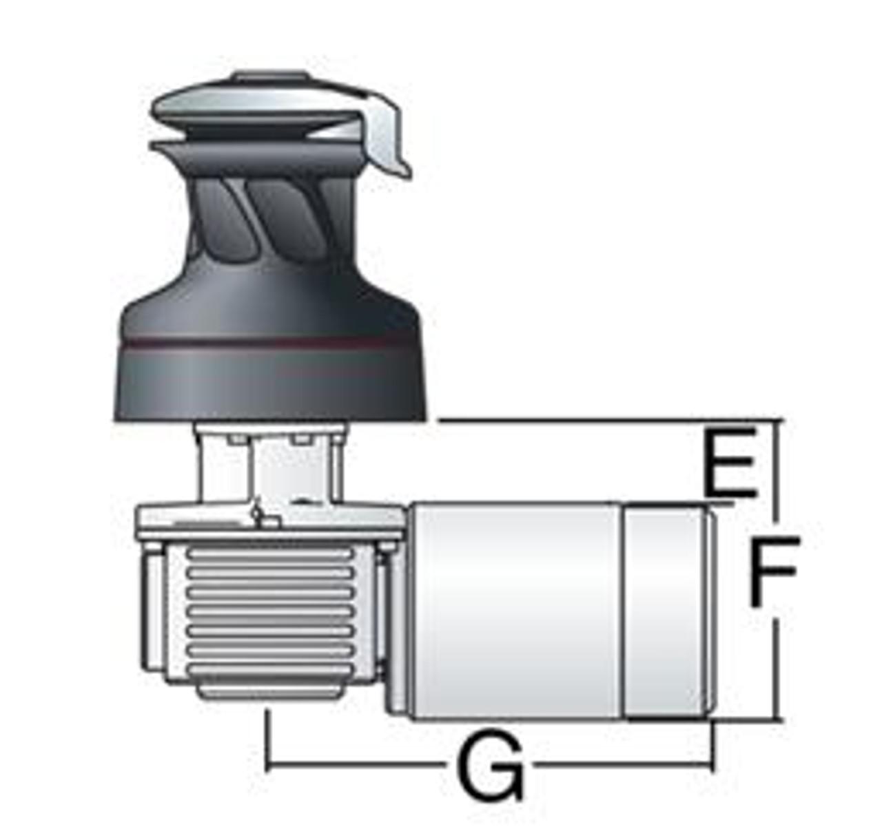 Harken Radial 2 Spd Electric ST Chrome Winch Horizontal 12 Volt (50.2STEC12H)