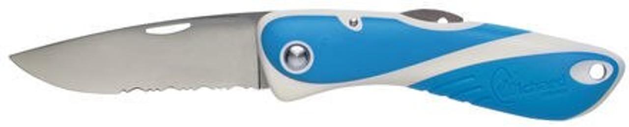 Wichard Aquaterra Serrated Blade Knife - Blue