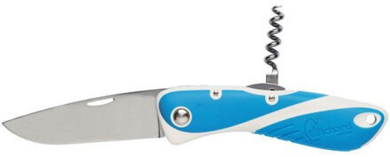 Wichard Aquaterra Plain Blade Knives + Corkscrew - Blue