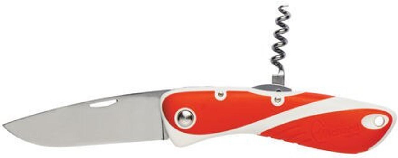 Wichard Aquaterra Plain Blade Knives + Corkscrew - Red