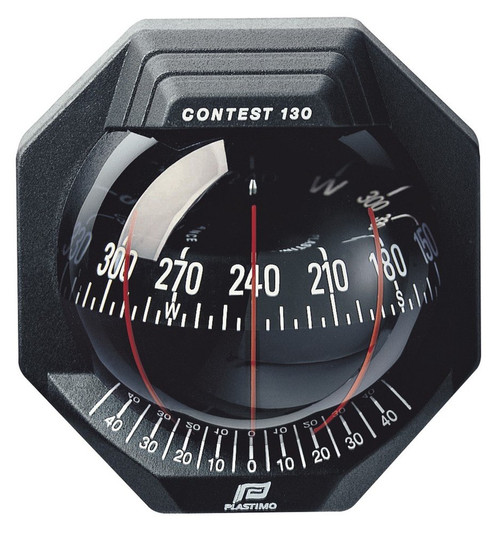 Plastimo Contest 130 Compass - Black with Black Card