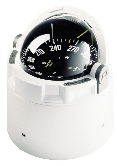 Plastimo Olympic 135 Compass - White with Black Card
