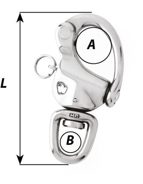 Wichard 90mm Titanium Snap Shackle Swivel Standard Bail (52475)
