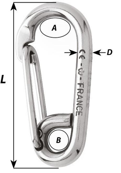 Wichard Carbine Hook - Symmetric (2313-2317)
