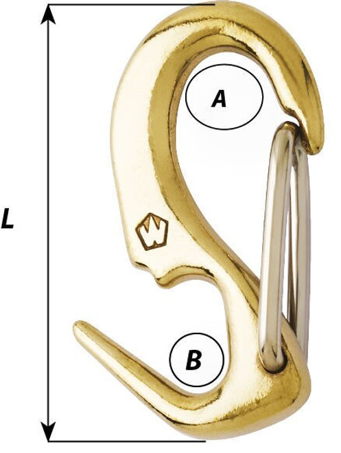 Wichard Brass One Hand Snail Snap (72483-72487)