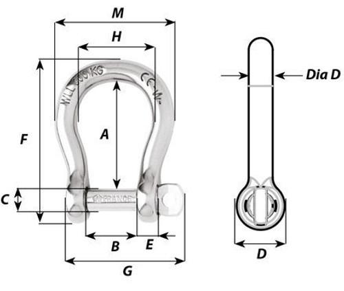 Wichard Self-locking Bow Shackles (1241-1248)
