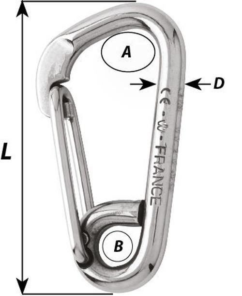 Wichard Asymmetric Carbine Hook (2323-2328)