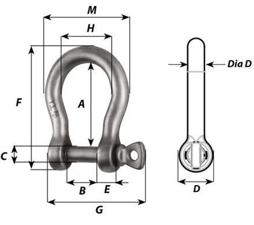 Wichard Titanium Bow Shackle (51245/51246)