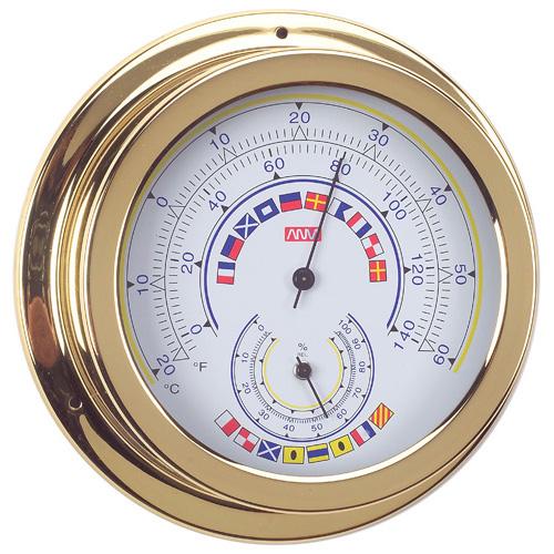 RWB Thermometer & Hygrometer Brass Code Flags 120mm