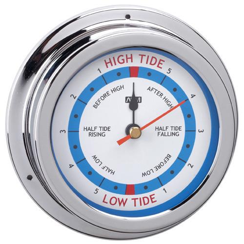 RWB Tide Clock Brass Chrome 120mm