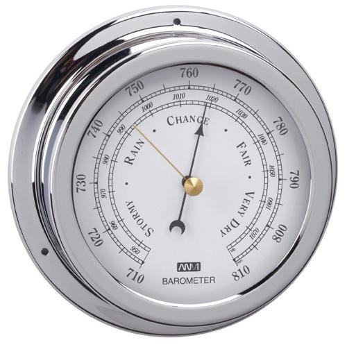 RWB Barometer Brass Chrome 120mm