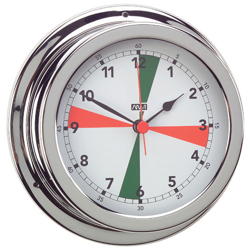 RWB Clock Radio Silence Zone Brass Chrome 120mm