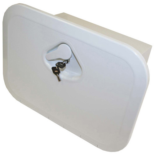 RWB Deluxe Storage Hatch Box with Lock White