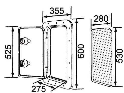 RWB Deluxe Storage Hatch Box with Lock 600 White