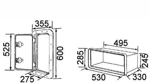 RWB Deluxe Storage Hatch with Box 600 White