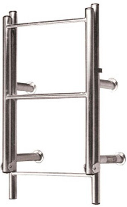 RWB Stainless Steel Open Top Standard Ladders 4 Rung Angled Legs/Straight Legs