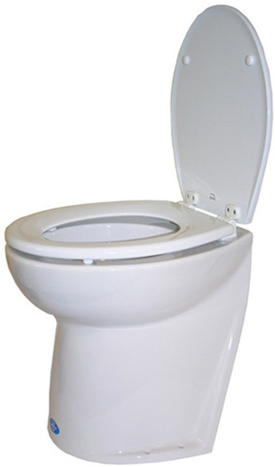 RWB Jabsco Deluxe Silent Flush Electric Toilets - Slanted Back Fresh Water Rinse