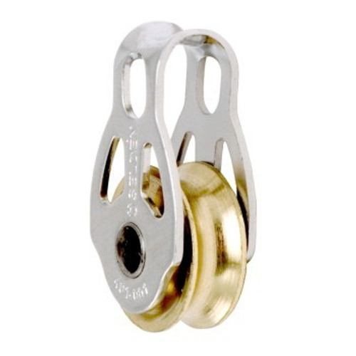 Selden Plain Bearing Blocks 16mm Single Strap - Brass