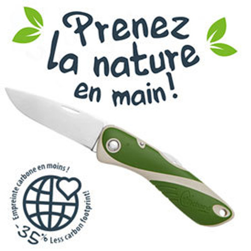 Wichard Aquaterra Bio-sourced Knife - Sandy Green