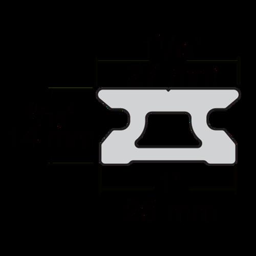 Harken MR 27mm CB Low-beam Track w/Pinstop Holes 1.8m