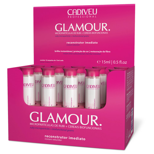 Cadiveu Glamour Ruby Nutritious and Reconstructor Instant ampoule 10x15ml/10x0.50fl.oz