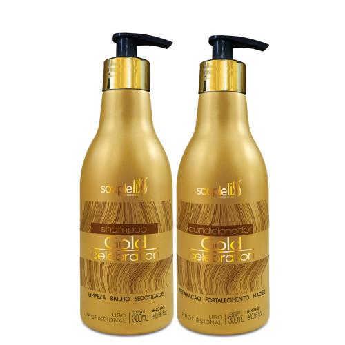SoupleLiss Gold Celebration Shampoo + Conditioner