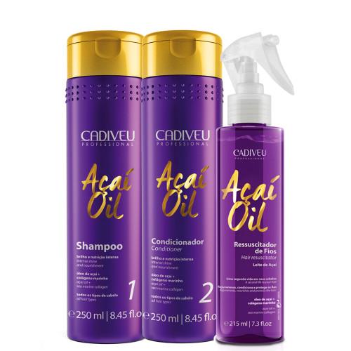 Kit Cadiveu Açaí Oil Hair Resuscitator Treatment Hair Care