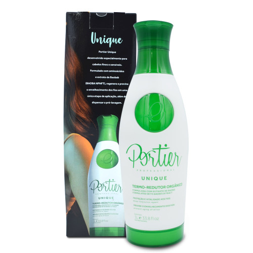 Portier Unique Organic Reducer Termo-Redutor Hair Alignment 1L/33.8fl.oz