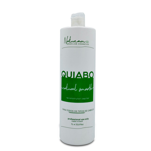 Naturiam Progressive Okra Without Formalin Natural Smooth For all Hair Types Quiabo 1L/33.8fl.oz