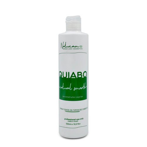 Naturiam Progressive Okra Without Formalin Natural Smooth For all Hair Types Quiabo 500ml/16.9fl.oz