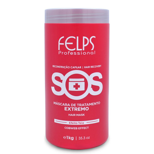 Felps Mask SOS Hair Resurrection Extreme Treatment Hydrated and Recovered Hair Care 1Kg/35.3fl.oz