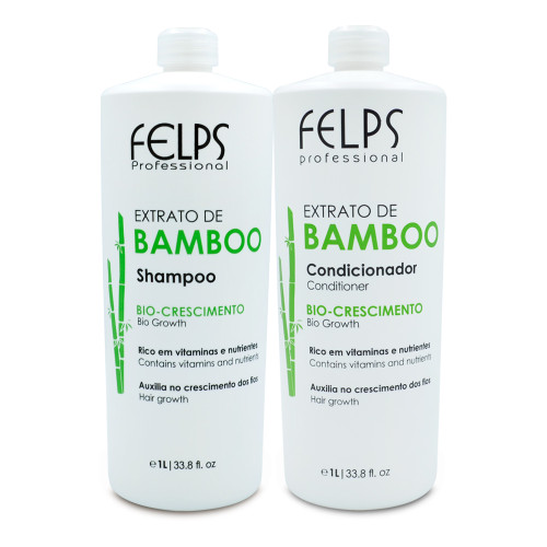 Kit Felps Shampoo Conditioner Bamboo Extract Bio-Growth Contains Vitamins Hair Care 2x1L/2x33.8fl.oz