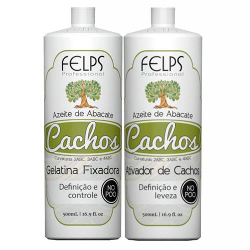 Felps Curls Avocado Oil Fixative Gelatin Kit + Curl Activator
