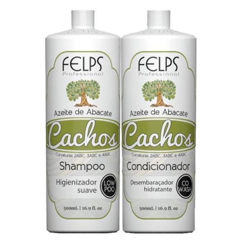 Felps Kit Curls Avocado Oil Shampoo and Conditioner 2x500ml/2x16.9fl.oz
