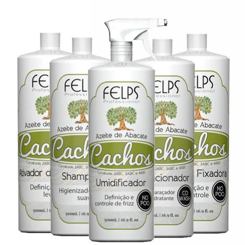 Felps Curls Avocado Oil Complete Kit No Poo 2ABC - 4ABC 5x500ml/5x16.9fl.oz